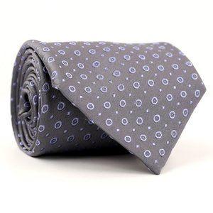 Charvet Place Vendome Silk Neck Tie Gray/Purple